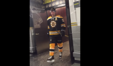 Bruins Pay Tribute to and Hang with Veterans During Devils Game (Video)