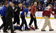 Daniel Winnik Taken Off the Ice in a Stretcher after Violent Check (Video and Tweet)