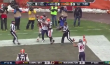 J.J. Watt Embarrasses a Browns Linebacker By Catching Another TD Pass (Video)