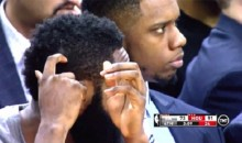 Watch James Harden Scratch a White Rock Off His Head in Slow Motion (Video)
