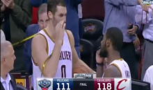 Kyrie Irving and Kevin Love Have a Handshake That Mimics Getting High (Video)