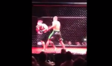 MMA Fighter Gets Hit In Ear, Ear Explodes With Blood. Good Times! (Video)