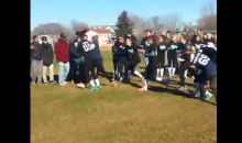 Powder Puff Football Player Absolutely Destroys Tackler on Runback (Video)