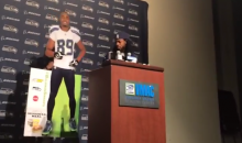 Richard Sherman and a Cardboard Doug Baldwin Mock the NFL Media Rules (Video)