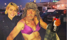 Tailgating Man at Eagles Game Decides He's Fine Just Wearing a Bra (Video)