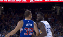 Watch Draymond Green Give Blake Griffin The Tongue For A Long Time (GIF)