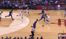 Watch James Harden Let a Knicks Fastbreak Breeze Right By Him (GIF)