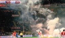 Croatian Soccer Hooligans Throw Flares and Fireworks Onto Field During Italy-Croatia Euro Qualifier (Videos)