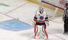 Facing 2-on-0 Break, AHL Goalie David Leggio Says F**k It and Just Knocks the Goal Over (Video)