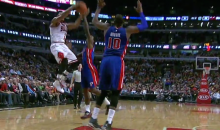 Derrick Rose Assist Is the Highlight of Bulls Win Over Pistons (Video)