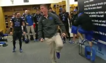 Duke Bro Gets the Blue Devils Football Team Pumped Up for UNC Game (Video)