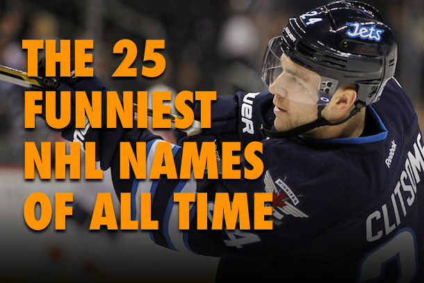 Funny Basketball Names: The 25 Funniest NHL Names Of All Time