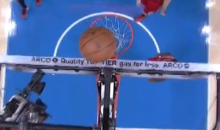 Jamal Crawford Lucky Bounce: Rim, Backboard, Rim, And In (Video)