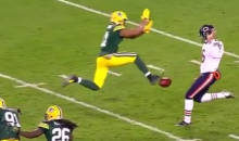 Jarret Boykin Blocks Bears Punt by Kicking Ball Before Punter Can (Video)