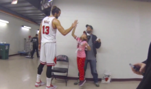 Joakim Noah Goes Out of His Way to Chat with Shy Young Bulls Fan (Video)