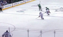 Dallas Defenseman John Klingberg Scores Amazing Knucklepuck Goal from Center Ice (Video)