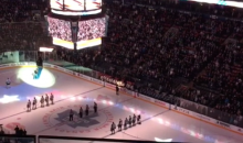 Canadian Hospitality: Maple Leafs Fans Finish American Anthem After Mic Malfunctions on Singer (Video)
