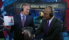 Jon Gruden and Mike Tirico Were Making Monday Night Football Protein Shakes in the Booth Last Night (Video)