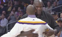Shaq and Kobe Hug It Out Prior to Lakers-Warriors Game (Video)