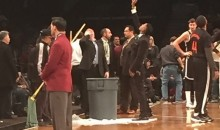 Leaky Roof at Barclays Center Forces Delay in Heat-Nets Game (Video)
