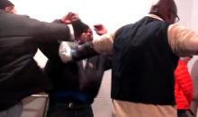Bears Fan Punches a Cowboy Fan Bathroom Line-Cutter (Video)