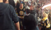 Bruins Fan Gently Pushes a Guy Over a Rows of Seats in Anaheim (Video)