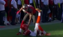 Bucs Rookie Mike Evans Choke Slams Terrence Newman on Block (Video)