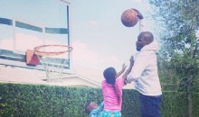 Chad Johnson Dunks on His Kids To Help Them Build Character (Photo)