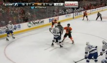 Claude Giroux Wipes Boogers on Ref (Video)