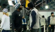 Dez Bryant Jawing With Malcolm Jenkins Before Cowboys-Eagles Sunday Night Game (Video)