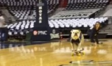 Georgetown Mascot Skateboards Across Court, Looking Confused (Video)