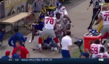 Giants-Rams Brawl After Late Hit on Odell Beckham (Video)