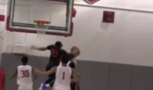 High Schooler D.J. Harvey Hits Head on Backboard After Block (Video)