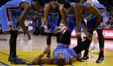Kevin Durant Sprained Ankle During Loss to Warriors (Video)