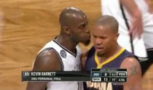 Kevin Garnett Blows in David West's Ear (Video)