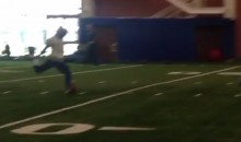 Watch Odell Beckham Kick Field Goals After Spinning the Ball (Video)
