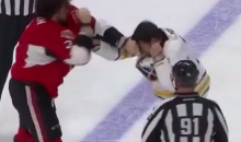Patrick Kaleta Punched Himself During a Very Clumsy Hockey Fight (Video)