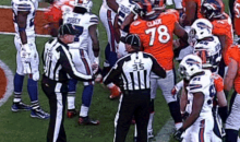 Referees Fist Bump Each Other During Bills-Broncos Game… But Why? (GIF)