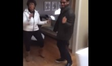 Russell Wilson Dances With Grandma on Christmas (Video)