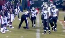 Saints Safety Terrence Frederick Runs Over Umpire Undrey Wash (Video)