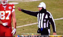 Travis Kelce Hand Gesture Caught On Live TV (Video)