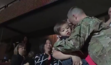 Soldier Surprises Wife and Son at Anaheim Ducks Game (Video)