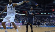 Watch Tyson Chandler Swat Marreese Speights' Shoe into the Stands (Video)
