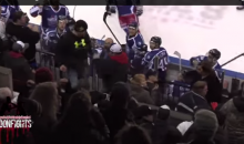 Water Bottle Fight Breaks Out Between Hockey Player and Fan (Video)