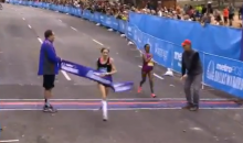 Bizarre Ending: Woman Accidentally Crashes Dallas Marathon Finish Line (Video)