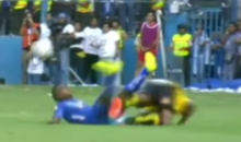 Ecuadorian Soccer Player Ejected for Vicious Tackle…on His Own Brother (Video)