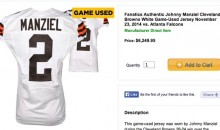 Johnny Manziel Sideline Jersey Goes Up for Sale
