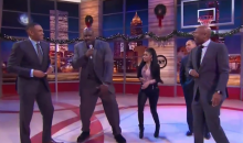 Inside the NBA Rap Battle: Shaq Proposes to Nicki Minaj, EJ Upstages Everybody with Mic Drop (Video)