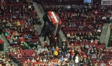 Portland Trail Blazers Ford Blimp Crashes Into Stands During Game (Video + Pics)