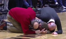 Ref Knocked Out by Elbow to the Head During Tipoff (Video)
